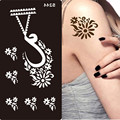 Tatuagem de Henna Stencils Para Pintura Arte Corporal Glitter Stencil Modelos Na Mão Pés Indiano Árabe Designs Stencils Tatuagem Pasta