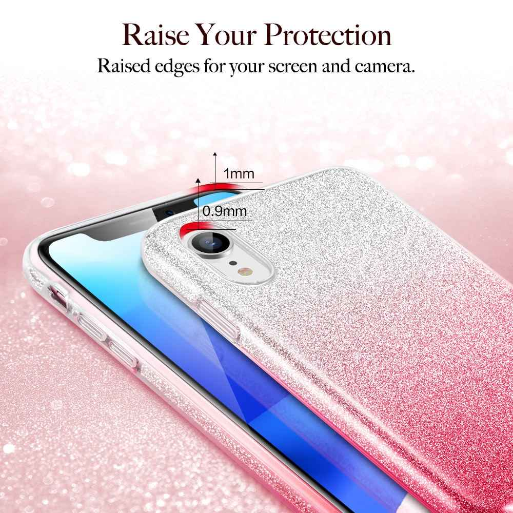 d45aff1f4a ... ESR Case for iPhone XS XR XS Max Cover Luxury Back Cover Shining  Protective Bumper Bling ...