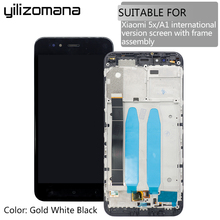 YILIZOMANA Original 5.5'' Replacement LCD Display Touch Screen Assembly with Frame For Xiaomi Mi5X MiA1 Mi 5X / A1+ Free Tools original used xiaomi mi a1 mia1 mi5x mi 5x m5x lcd display touch screen panel digitizer with frame assembly sensor replacement