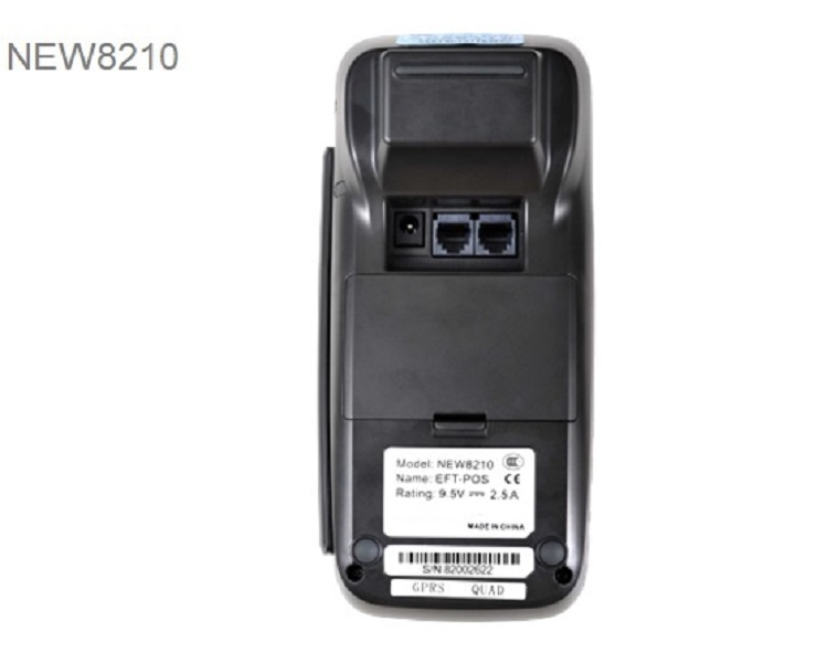 Terminal POS 8210 com GPRS, NEW8210 3G para Opcional