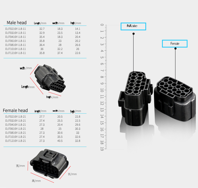Free shipping 5 set 1 2 3 4 6 8 10 12 Pin Way Waterproof Wire Connector Plug Car Auto Sealed Electrical Set Car Truck connectors in Connectors from Lights Lighting