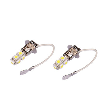 2PCS/Lot H3 100W Super Bright LED White Fog Lamp Tail DRL Head Car Light Bulb image