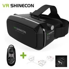 VRกล่องแว่นตา3DเสมือนจริงVR Shinecon 3Dปรับเกมภาพยนตร์G Oogleกระดาษแข็งO Culus riftบลูทูธการควบคุมระยะไกลร้อน