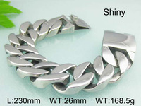 9 05 23cm 26mm 168 5g New Arrive A Large Heavy Shiny Jewelry 316L Stainless Steel