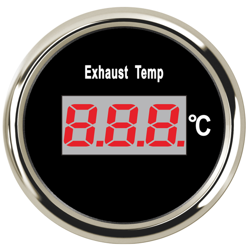 52mm Marine Car Exhaust Thermometer Gauge 0-800 degrees Celsius for Auto Motocycle Boat Yacht With Backlight 9-32V marine 52mm ammeter amp gauge with current sensor for motorcycle car marine boat yacht with backlight 12v 24v 150a 80a