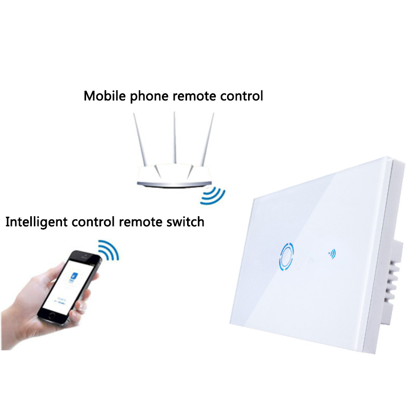 Alert Hot 1/2/3 Way Ew-wifi Smart Touch Switch Wireless Smart Phone Remote Switch Panel Timer Schedule Led Light Wall Switch Us Plug Refreshment Chargers Consumer Electronics