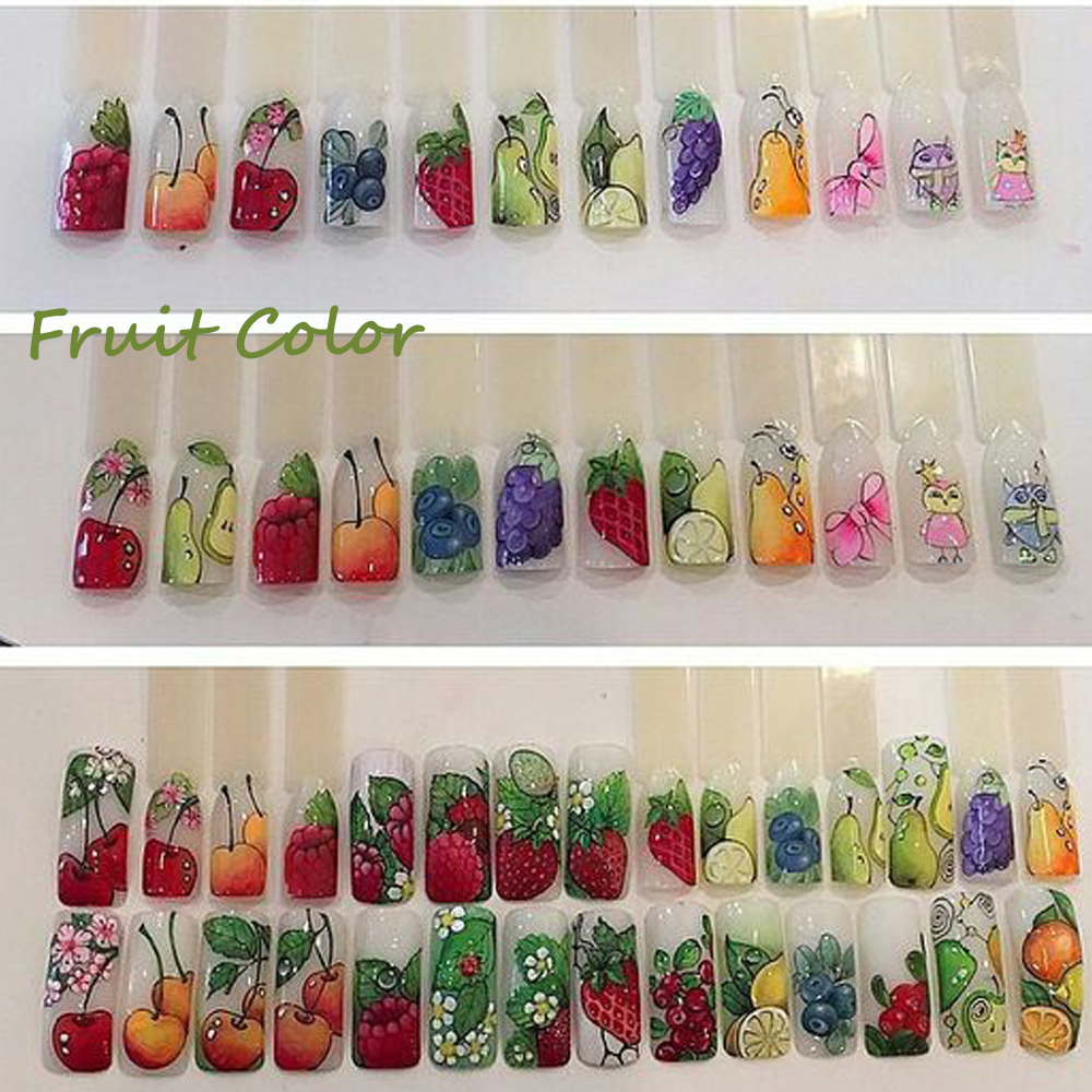 Image 4 - 18pcs Sweets Ice Cream Summer Nail Sticker Mixed Colorful Fruit DIY Water Decals Nail Art Decorations Manicure Tool TRSTZ471 488-in Stickers & Decals from Beauty & Health