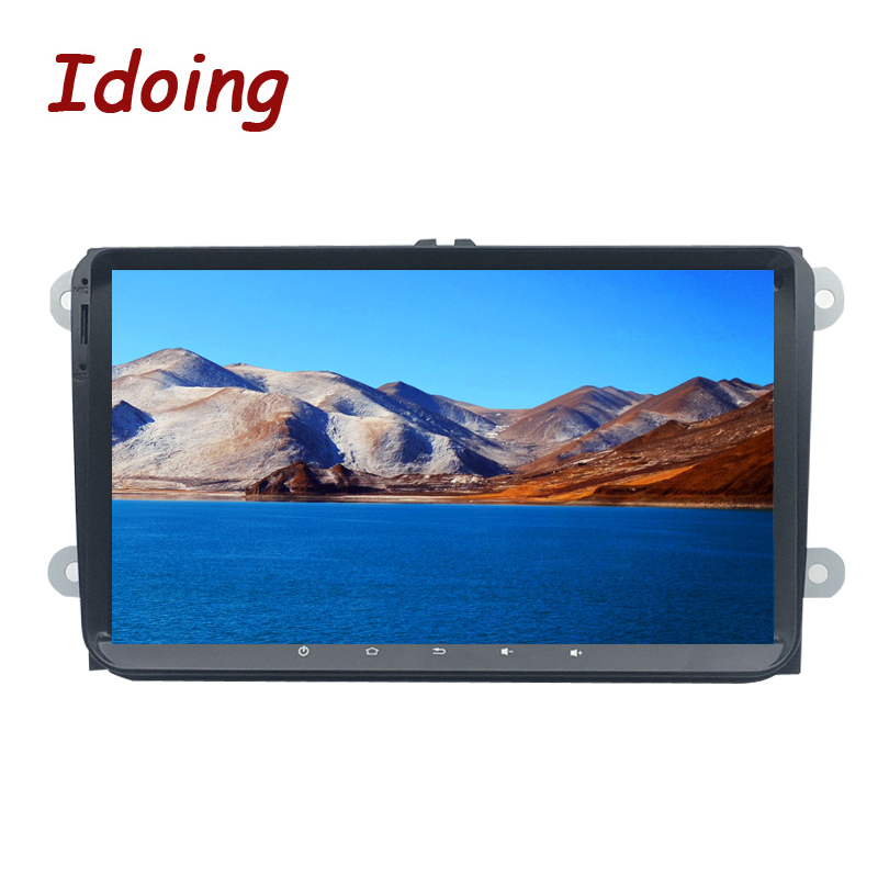 Idoing 9 Android8.0 4g + 32g 8 Core 2Din GPS + GLONAS Pour VW/Skoda/ siège De Voiture Multimédia GPS Lecteur Volant Rapide Boot 1080 p HDP