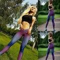 Moda Mulheres Impressão Magro Elasticidade Calças de Fitness Sexy Bodycon Ocasional das Mulheres Calças Roupas