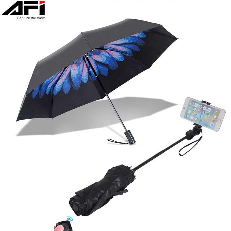 AFI Selfie Bâton Parapluie Parasol Blitzwolf Smartphone Pour Iphone Mi Oppo Samsung Trépied Pour Téléphone Pau De Auto Bâton Pour selfie