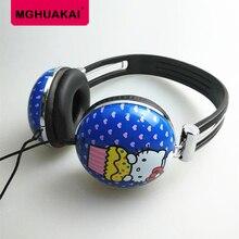 Crianças fone de ouvido Dos Desenhos Animados olá kitty 3.5mm Música fones de ouvido para iPhone samsung xiaomi fone de ouvido
