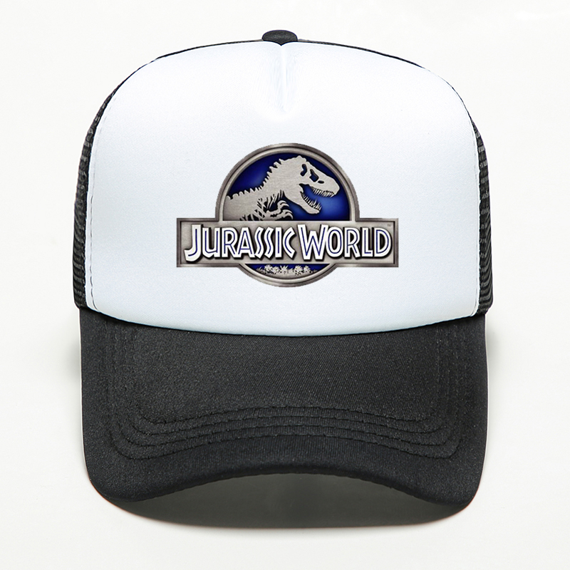 20 Colors Summer Fashion Jurassic World Park   Cap   Men Women Sport Outdoor Shade   Baseball     Cap   Breathable Adjustable Bone Mesh Hat