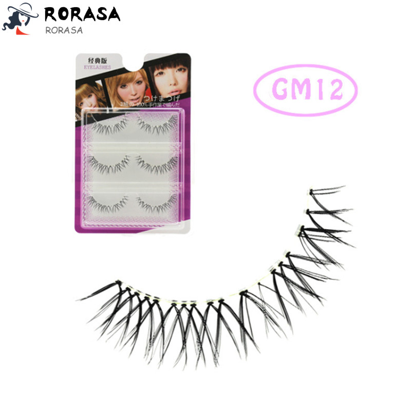 2018 Newest 3 Pairs Natural Black Long False Eyelashes Sparse Cross False Eyelashes Fake Eyelash Lashes Extensions Makeup Tools