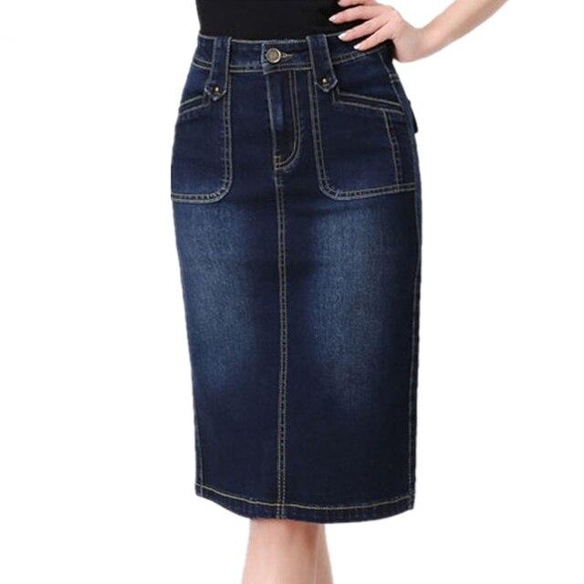デニム女性 2019 春夏ハイウエストパッケージヒップスカートプラスサイズ S-6XL ジーンズスカートスリム女性のセクシーなスカート X720