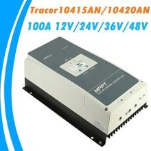 EPever MPPT 100A Solar Charge Controller 12V 24V 36V 48V Backlight LCD for Max 200V PV Input Real time Recording 10415AN 10420AN