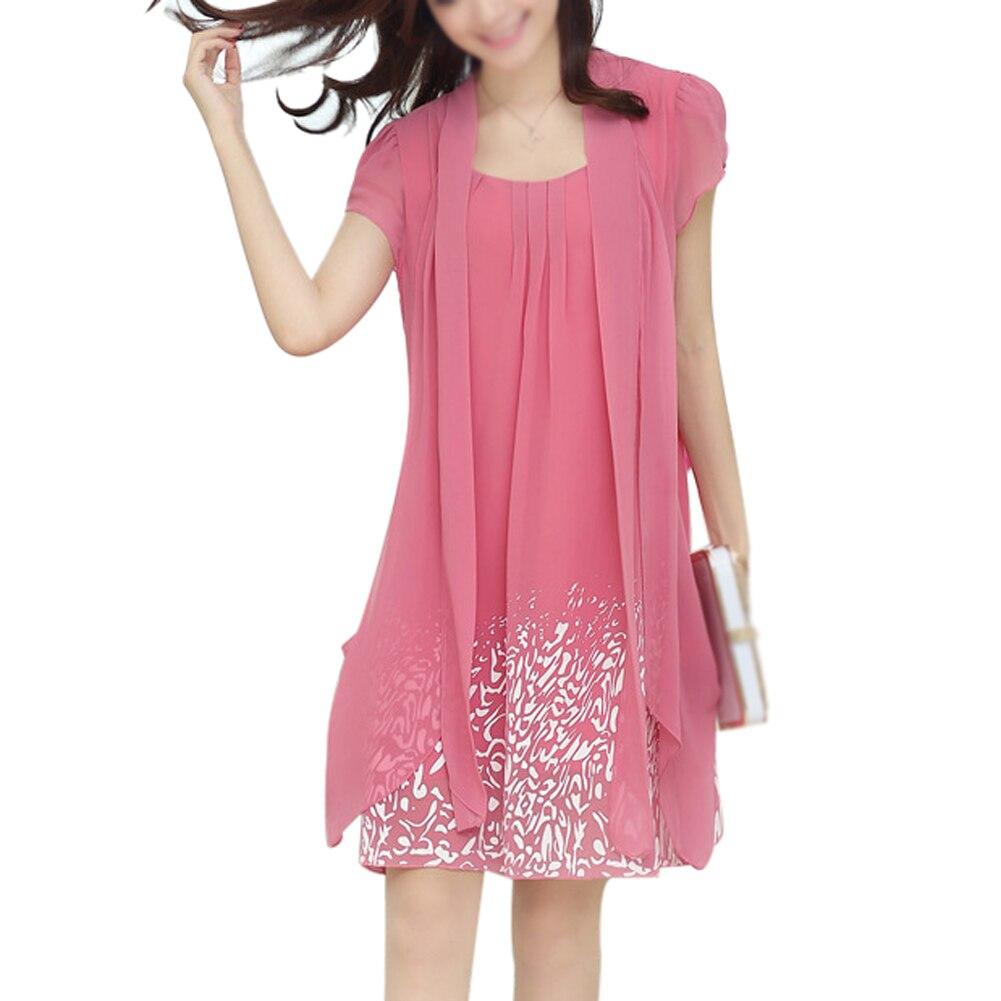 Buy Cheap tropical print dress women Dress casual rodado chiffon dresses fashion Summer new women's clothing pretty Clothes Vestido