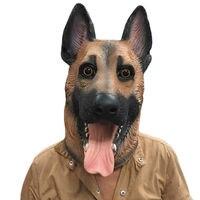 สุนัขหัวน้ำยางหน้ากากเต็มหน้ากากฮาโลวีนหน้ากากชุดแฟนซีปาร์ตี้เครื่องแต่งกายคอส