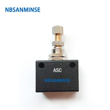NBSANMINSE ASC G1/8 1/4 3/8 1/2 Precision Flow Control Valve Pneumatic Air Valve Flow Adjusting Normal Temperature