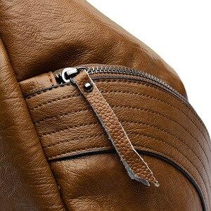 Image 5 - Женский кожаный рюкзак, винтажный повседневный рюкзак высокого качества, 2019
