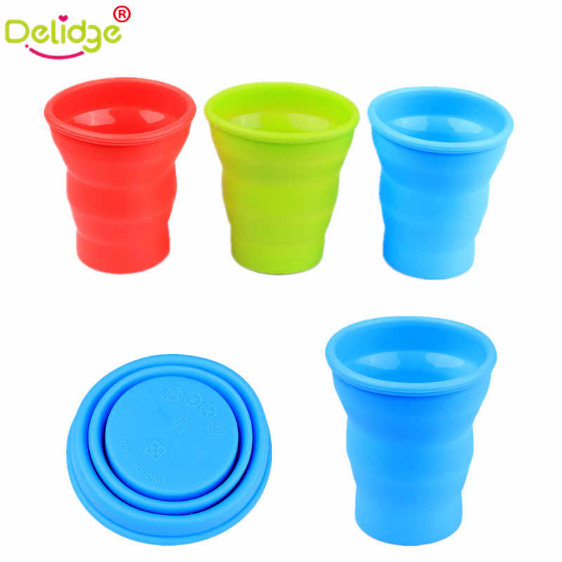 Delidge 1 pc Foldable Travel Mug Silicone Travel Folding Cup Telescopic Outdoor Folded Cups Collapsible Water Beer Mug Cup
