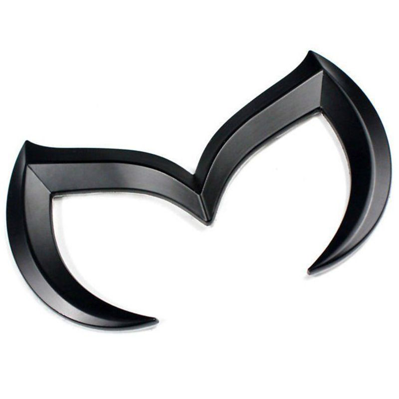 Metal Bat Shape Car Front Rear M Emblem Badge Sticker Decal For Mazda