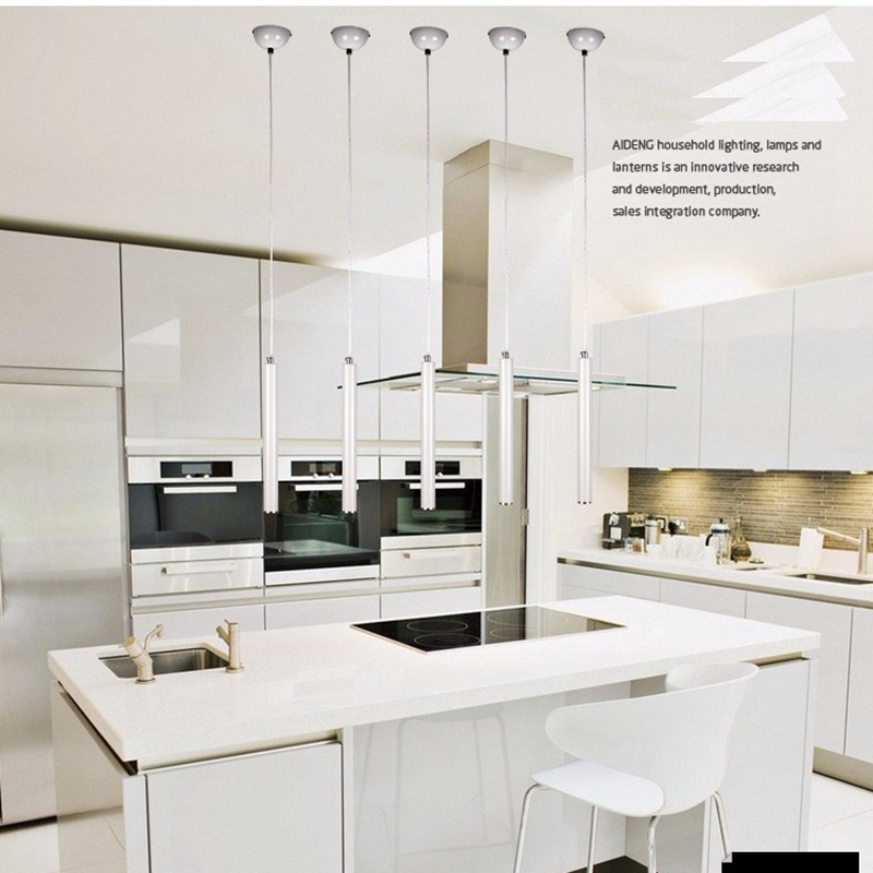 Kitchen Pendant Cupboard Knobs Lukloy Lights Modern Lamp Dining Room Aluminum Loft 3cm Pipe Spot Island Light Bar Counter Tube
