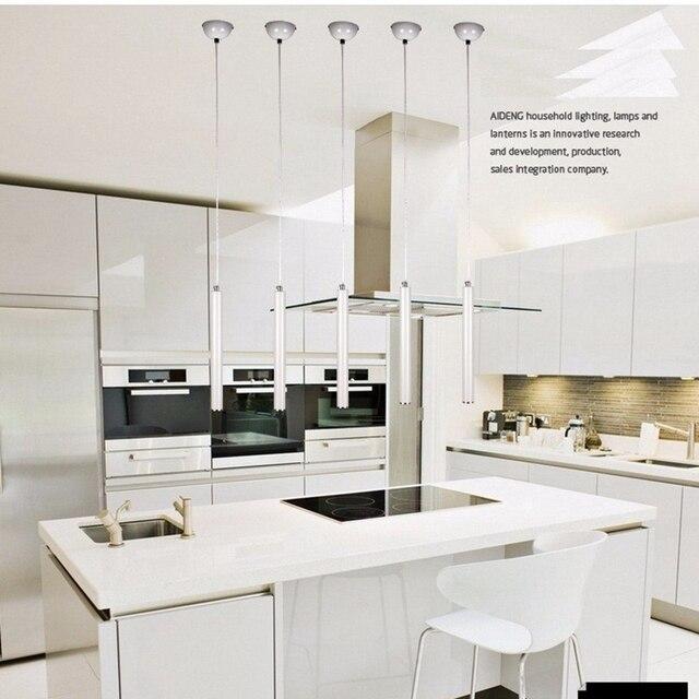 LukLoy luces lámpara de cocina moderna comedor de aluminio Loft 3 cm ...