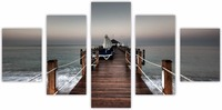5 piece canvas art painting beautiful sky tropical ocean blue sea home creative scenery living room office Free Shipping to