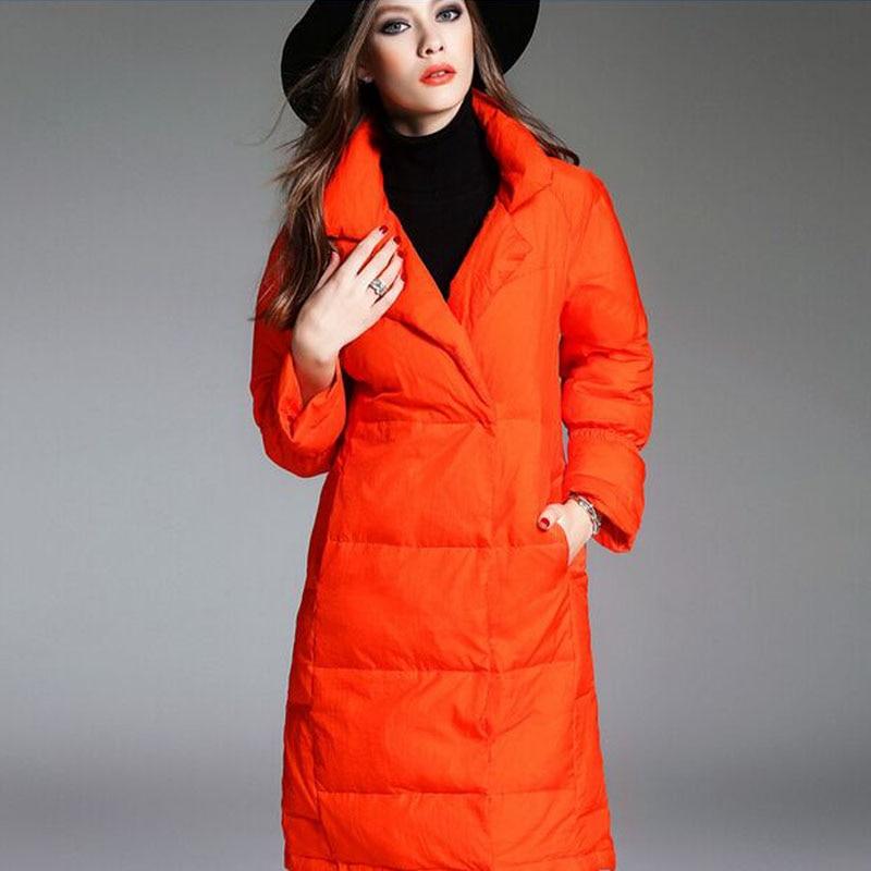 2018 Fashionable Winter Jacket Women Thick Long   Coat   Warm Parkas 90% White Duck   Down   Jacket For Female Winter Jacket   Coats