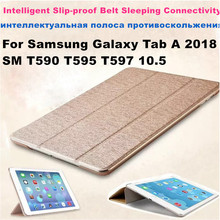 PU Leather Case For Samsung galaxy Tab A 10 5 2018 SM-T590 T595 T597 Tablet cover for Samsung galaxy Tab A 10 5 cases Cover cheap Protective Shell Skin For Samsung Galaxy Tab A 2018 SM T590 T595 T597 10 5 Drop resistance Waterproof Hard Shockproof Soft