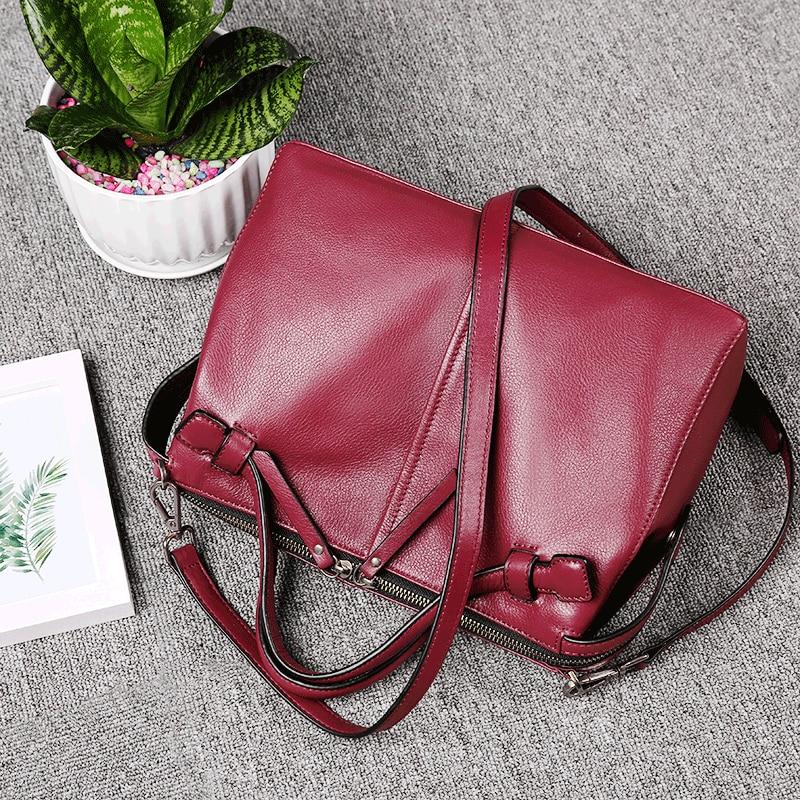 Mochilas Véritable Sacs Noir De Pour Vin Messenger Femmes gris Mode Femme Doux Cross Wine Simple red Boston Body Mujer Vintage Cuir Rouge aAaUIgr
