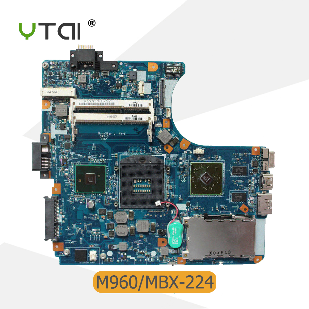 YTAI A1771577A For Sony M960 VPCEA MBX-224 laptop motherboard A1771577A HM55 DDR3 1P-009C500-8011 mainboard fully tested laptop motherboard for sony vgn fw a1727021a mbx 189 m763 1p 0091j00 8010 pm45 ati 216 0729042 ddr3