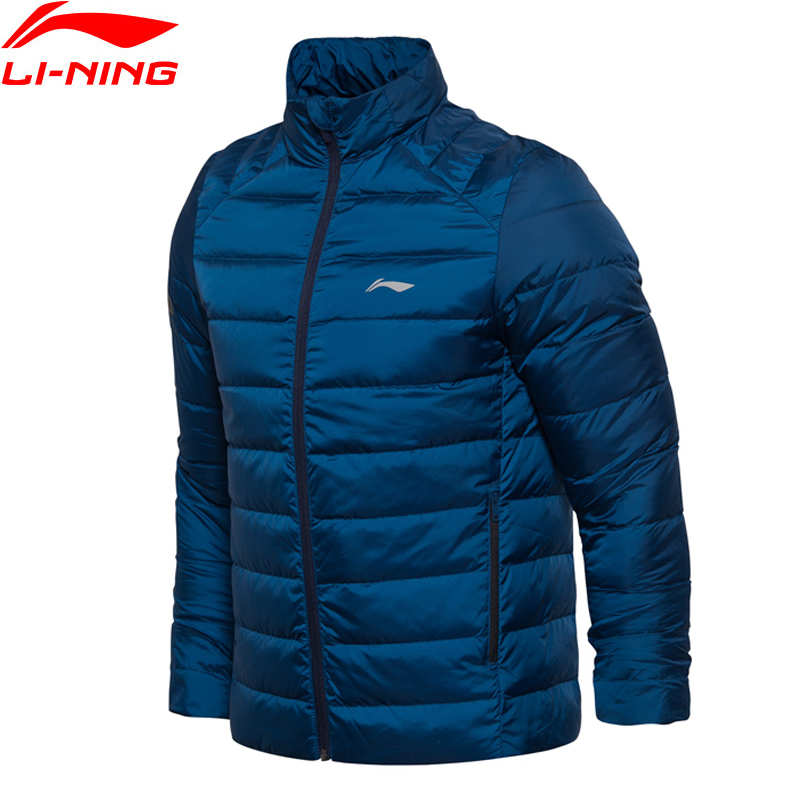 Li-Ning Men Training Short Down Jacket Warm AT PROOF WIND Comfort LiNing Winter Jackets AYMM075 MWY287