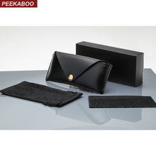 460030c66a Peekaboo PU leather sunglasses packaging boxes custom print soft case  glasses box women men white black