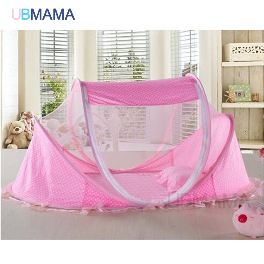 Baby bed pictures - Aliexpress Com Buy Red Blue Baby Bed With Mosquito Net Portable Baby Bed Music Game Cotton Folding Bed With Children Bed Cover From Reliable Baby Bed
