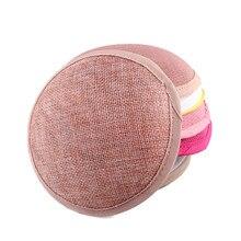 Новое поступление, персиковая или 17 цветов, 13 см, круглая имитация Sinamay основа для вуалетки, женские вечерние шляпка-Вуалетка, основа Дерби, 12 шт./партия