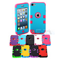 Multicolor híbrido 3 em 1 high impact case capa para apple ipod touch 5 5th generation a54