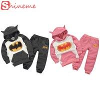 5 Sets Kids Superhero Heros Clothing Set Batman Set Boys Pink Girls Cute Cartoon Suit With