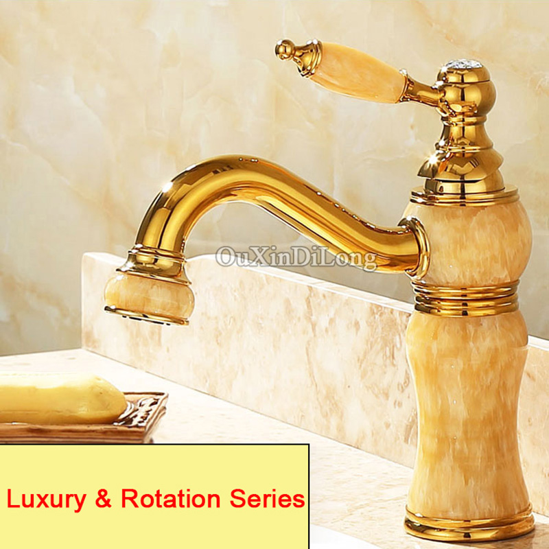 European High Quality Folding Kitchen Faucet Household: High Quality Brass Jade Basin Faucets Torneira European