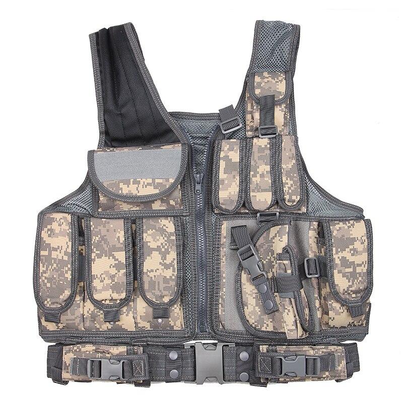 Молл Открытый камуфляж Охота жилет тактический Военная Униформа армейская Airsoft Wargame Панцири защитная одежда с Чехлы