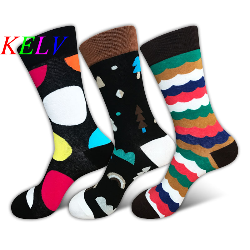 KELV 1 Pair High Quality Professional Brand Cycling Sport Socks Feet Breathable Wicking Socks Cycling Socks Creativ Picture Sock