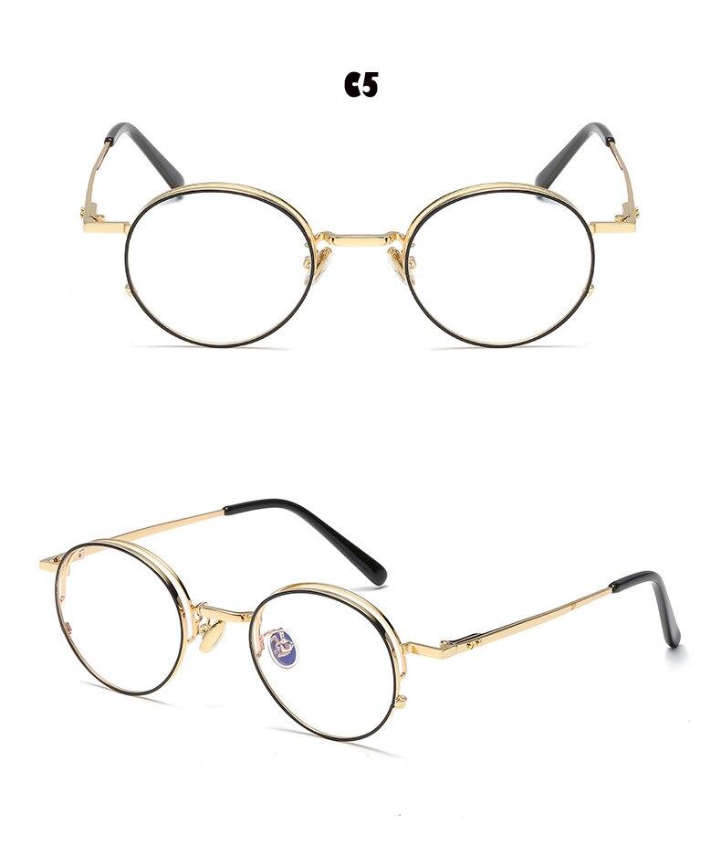 2e29c550e49 New Fashion Women Round Gold Glasses Frames for Men Classic Optical  Eyeglasses Frames Women Best Fashion Glasses-in Eyewear Frames from Men s  Clothing ...