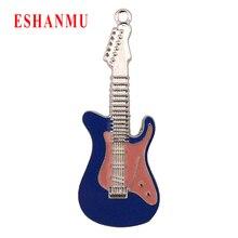 Eshanmu гитара с отделкой кристаллами Алмазный Флешка 4 ГБ 8 ГБ 16 ГБ 32 ГБ 64 Гб украшение металл Usb флэш-накопитель U диск Usb флэш-накопитель