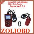 DHL бесплатно на продажу Супер VAG 3.0 ISCANCAR VAG код eader KM ИММО OBD2 Код Сканер супер vag v3.0 настроить пробег читать иммобилайзер