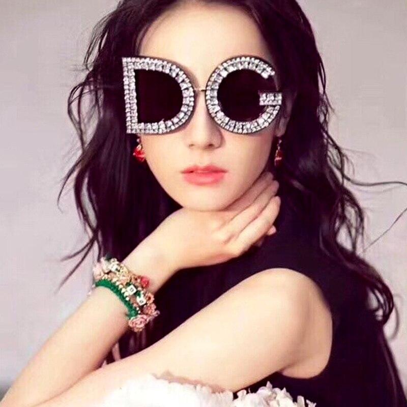Fashion 2019 Oversized Sunglasses Women Round Plastic Frame Retro Black Sun glasses For Men Female Eyewear Shade oculos UV400 in Women 39 s Sunglasses from Apparel Accessories