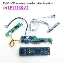 For LP141X8-A1 laptop LCD monitor 1024*768 20pin 1-lamp LVDS 60Hz CCFL 14.1″ HDMI/VGA/AV/USB/RF TV56 controller driver board kit