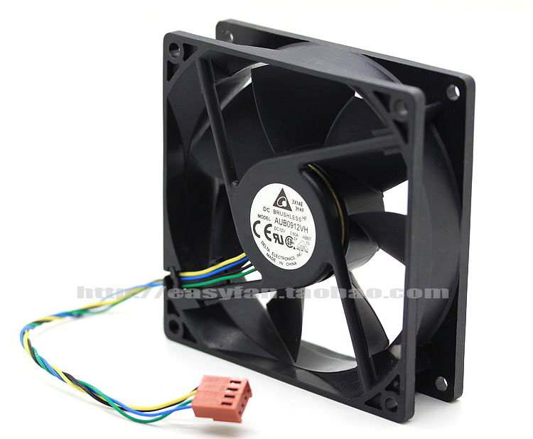 Delta AUB0912VH AB07 DC 12V 0.60A 90x90x25mm Server Square fan ...