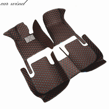 Car wind leather car floor mat for Peugeot 307 206 308 407 207 406 408 301 508 5008 2008 3008 waterproof Carpets car accessories
