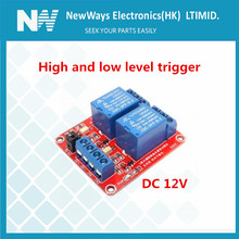 2 channel DC12V Red PCB relay module High and low level trig
