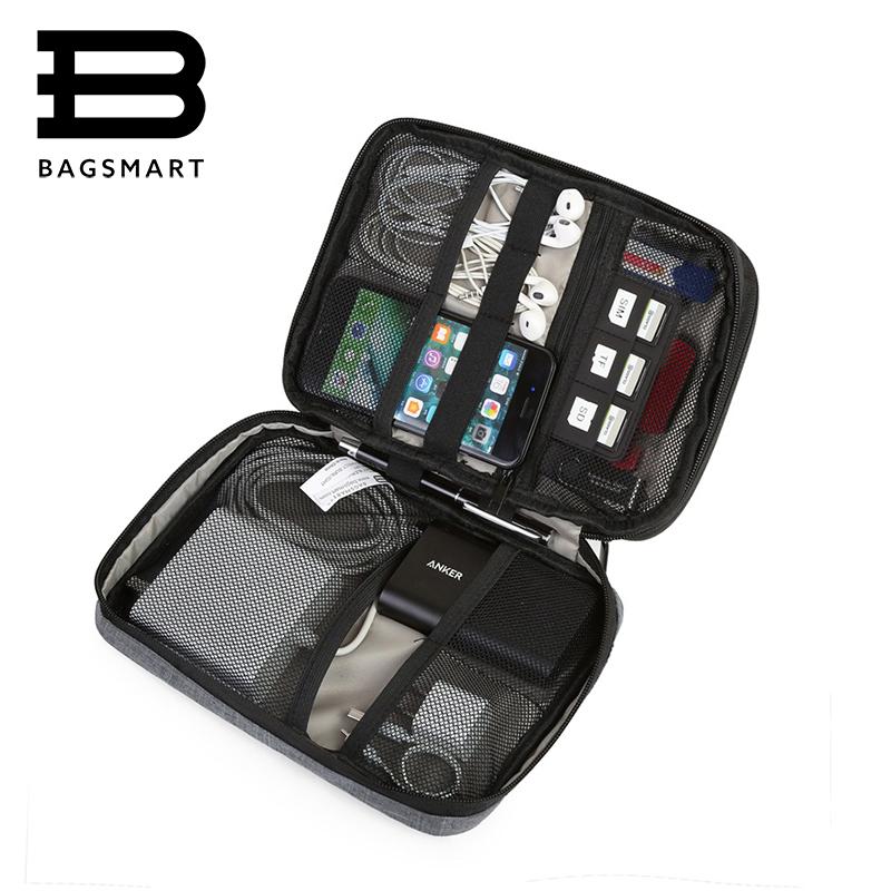 Prix pour BAGSMART Électronique Accessoires Sac En Nylon Hommes Voyage Organisateur Pour Date Ligne SD Carte USB Câble Numérique Dispositif Sac Accessoires